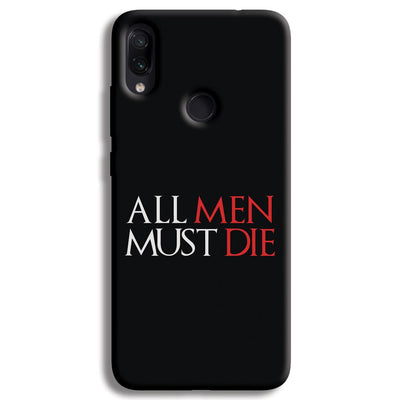 ALL MEN MUST DIE Redmi Note 7 Pro Case