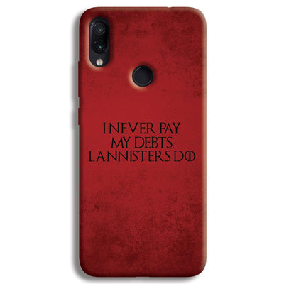 I NEVER PAY MY DEBTS Redmi Note 7 Pro Case