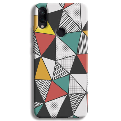 Triangle Abstract Pattern Redmi Note 7 Pro Case