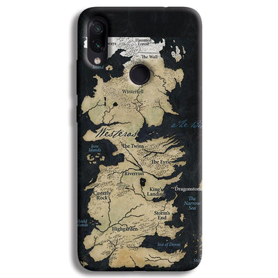 Game of Thrones Map Redmi Note 7 Pro Case