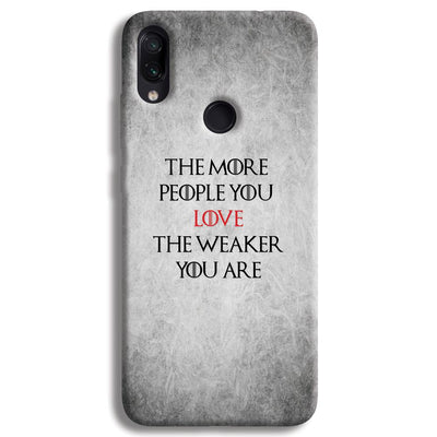 The More People Love You Redmi Note 7 Pro Case