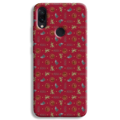 Pink Sigil Pattern Redmi Note 7 Case