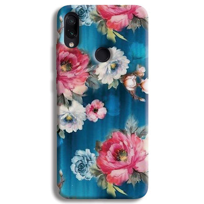 Blue Water Floral Redmi Note 7 Case