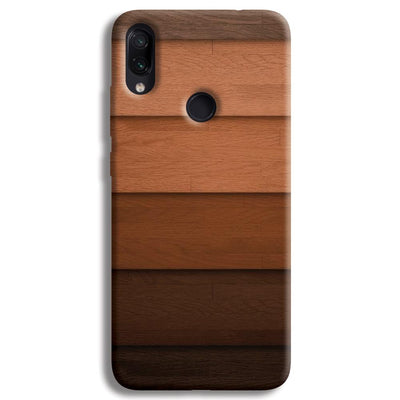 Striped Wooden Pattern Redmi Note 7 Case