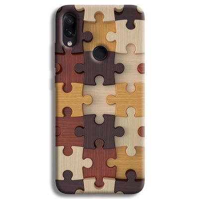 Puzzle Pattern Redmi Note 7 Case