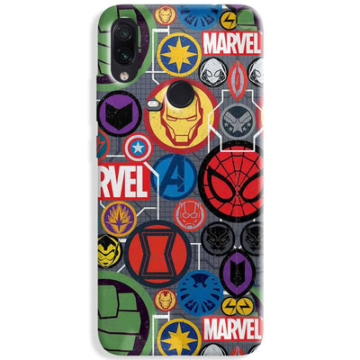 Marvel Iconic Mashup Redmi Note 7 Pro Case