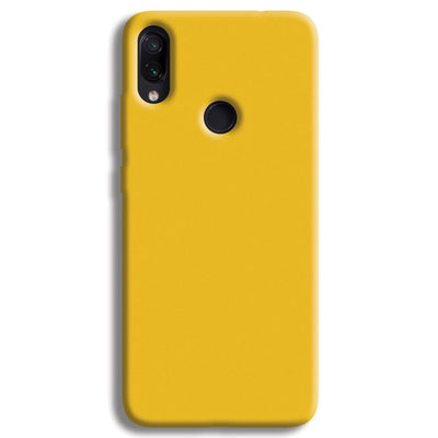 Yellow Crome Redmi Note 7 Case