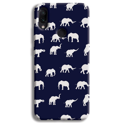Elephant Pattern Redmi Note 7 Case