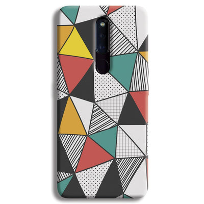 Triangle Abstract Pattern OPPO F11 Pro Case