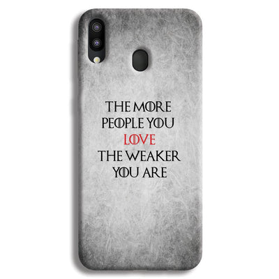 The More People Love You Samsung Galaxy M20 Case