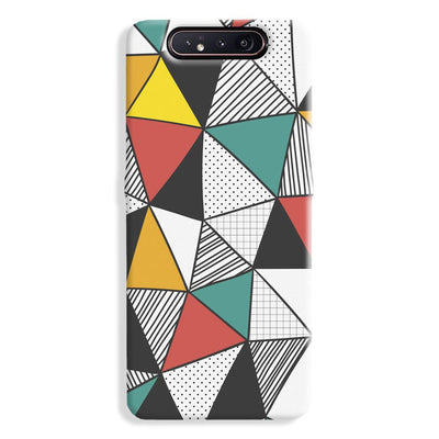 Triangle Abstract Pattern Samsung Galaxy A80 Case