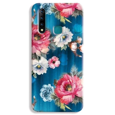 Blue Water Floral Vivo Z1 Pro Case