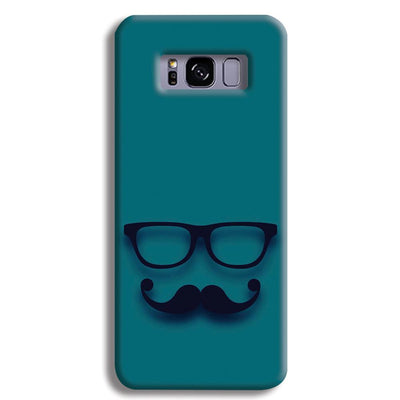 Cute mustache Blue Samsung S8 Plus Case