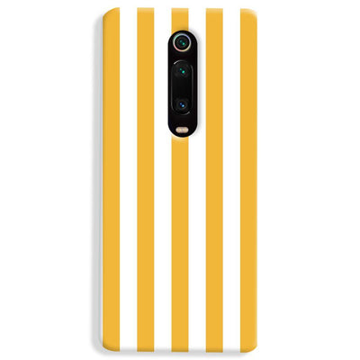White Yellow Stripes Xiaomi Redmi K20 Pro Case