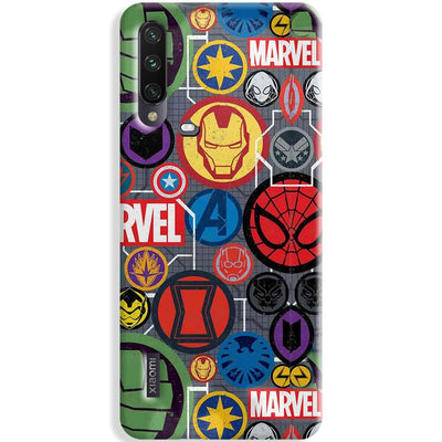 Marvel Iconic Mashup Xiaomi Mi A3 Case