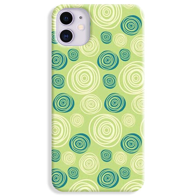 Lime Green Pattern iPhone 11 Case