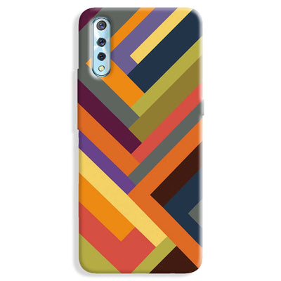 Geometric Stripes Pattern Vivo S1 Case