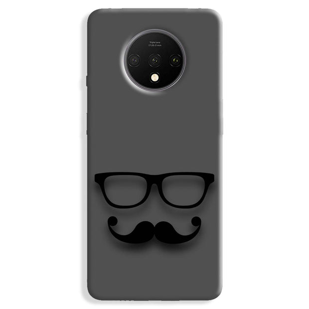 Cute mustache Gray OnePlus 7T Case