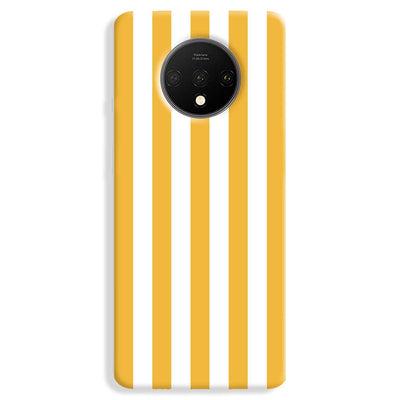 White Yellow Stripes OnePlus 7T Case