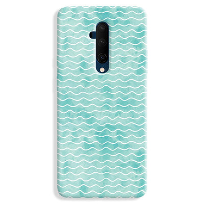 Wavy Blue Pattern OnePlus 7T Case