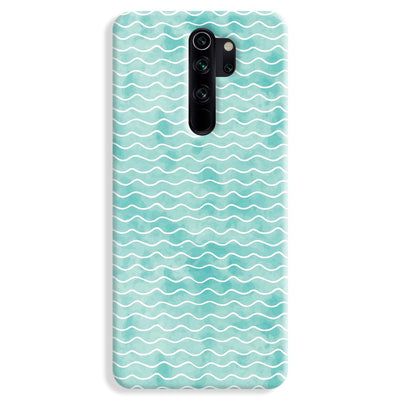 Wavy Blue Pattern Redmi Note 8 Pro Case
