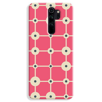 Pink & White Abstract Design Redmi Note 8 Pro Case
