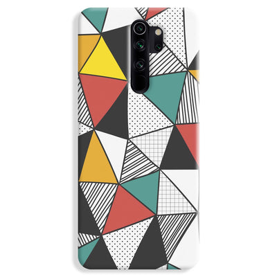 Triangle Abstract Pattern Redmi Note 8 Pro Case