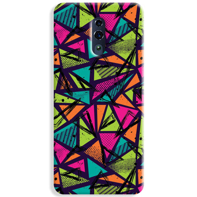 Geometric Color Pattern Oppo Reno Case