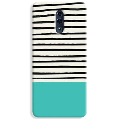 Aqua Stripes Oppo Reno Case