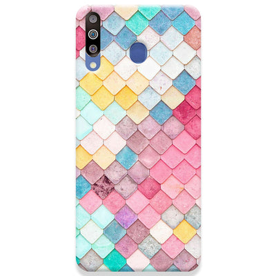 Colorful Roof Tiles Pattern Samsung Galaxy M30 Case
