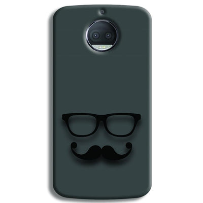 Cute mustache Gray Moto G5s Plus Case