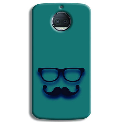 Cute mustache Blue Moto G5s Plus Case