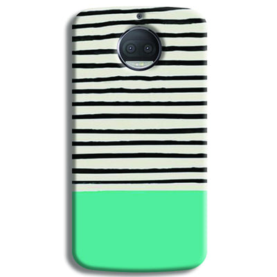 Aqua Stripes Moto G5s Plus Case