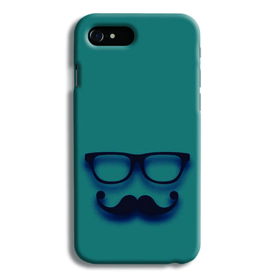 Cute mustache Blue iPhone 8 Case