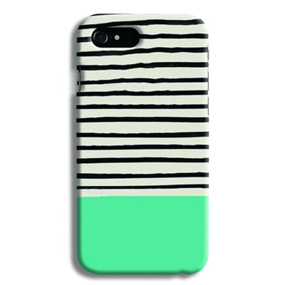 Aqua Stripes iPhone 8 Case