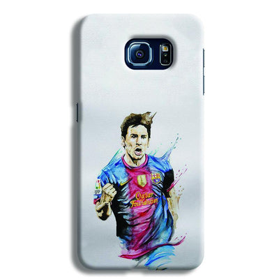 Messi White Samsung S6 Case