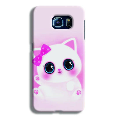 Pink Cat Samsung S6 Case