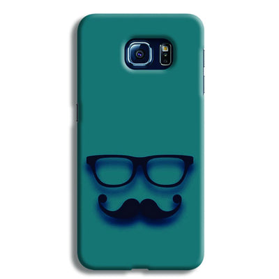 Cute mustache Blue Samsung S6 Case
