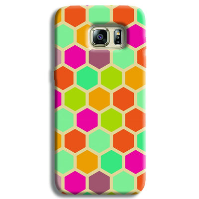 Hexagon Color Pattern Samsung S6 Edge Case