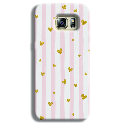 Cute Heart Pattern Samsung S6 Edge Case