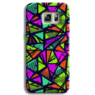 Geometric Color Pattern Samsung S6 Edge Case