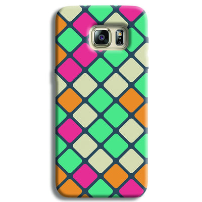 Colorful Tiles Pattern Samsung S6 Edge Case
