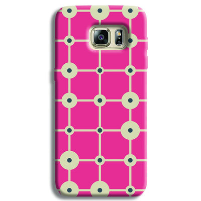 Pink & White Abstract Design Samsung S6 Edge Case