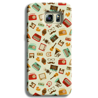 Vintage Elements Pattern Samsung S6 Edge Case