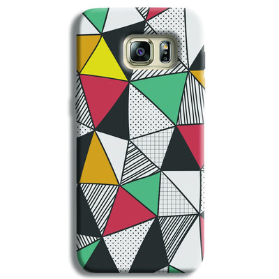 Triangle Abstract Pattern Samsung S6 Edge Case