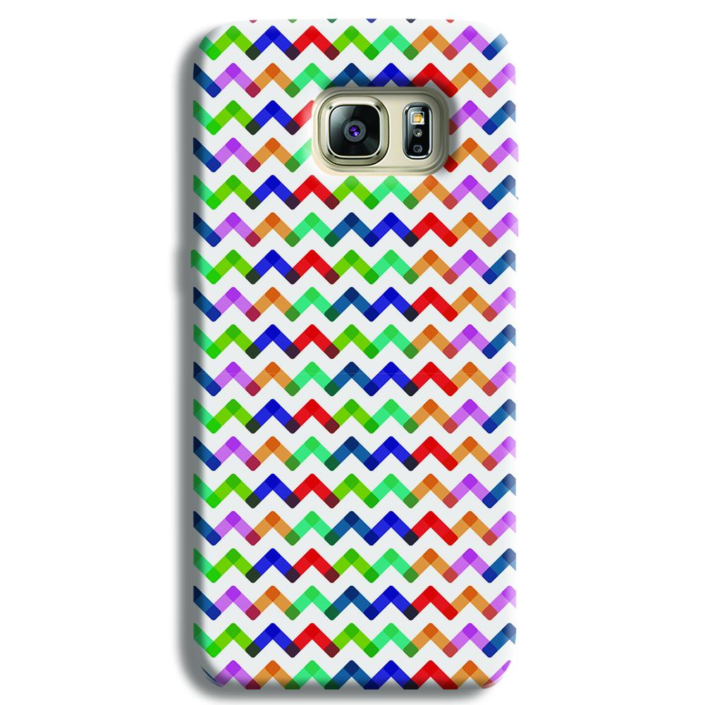 Colors Chevron Samsung S6 Edge Case