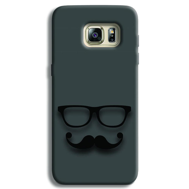 Cute mustache Gray Samsung S6 Edge Case