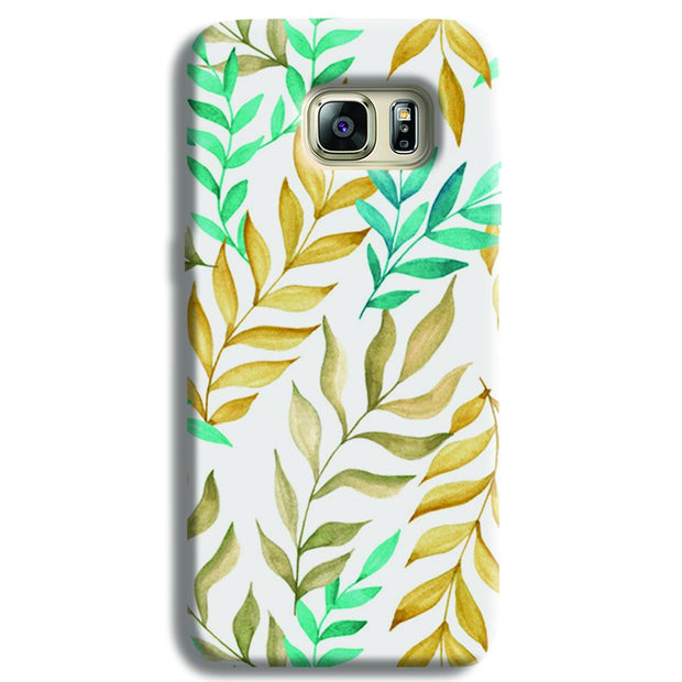 Tropical leaves  Samsung S6 Edge Case