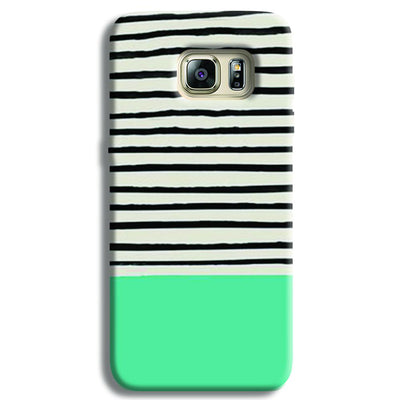Aqua Stripes Samsung S6 Edge Case