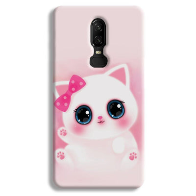 Pink Cat OnePlus 6 Case